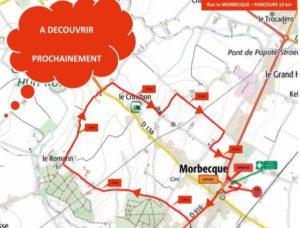 Reconnaissance parcours Morbecque - départ du stade à 09h10 @ Morbecque